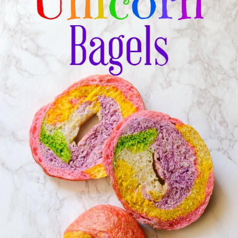Unicorn (Rainbow! Sparkly!) Bagels