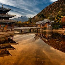Black Dragon Pool Park,Lijiang by Stanley P. - City,  Street & Park  Vistas ( landscapes )
