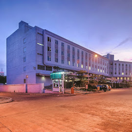 Blue hour hospital by Miko Adji - Buildings & Architecture Office Buildings & Hotels ( building, indonesia, sunset, blue hour, architectural, cityscape, hospital )
