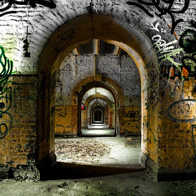 Welcome to the dungeons of the Fort Chartreuse. by Roger Hamblok - Buildings & Architecture Decaying & Abandoned ( army, urban, urbex, prison, dungeons, graffiti, ruin, dungeon, destruction, fort, decay, abandoned,  )