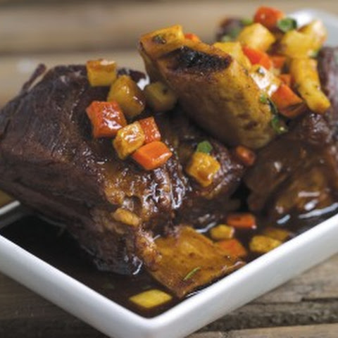 Sherry Braised Beef Short Ribs with Autumn Vegetables