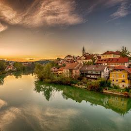 Novo mesto  Slovenia by Joško Šimic - City,  Street & Park  Vistas ( novo mesto slovenia )