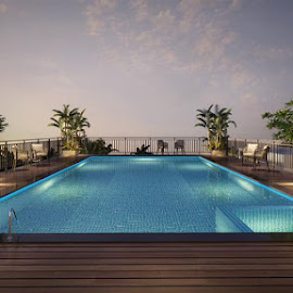 Luxury Flats in Kochi by Ashwath Thampan - Buildings & Architecture Other Exteriors ( flats in kochi, swimming pool, luxury flats in kochi, building )