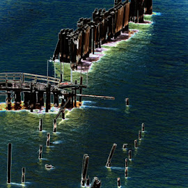 Solarization of Bridge by Craig Turner - Buildings & Architecture Bridges & Suspended Structures