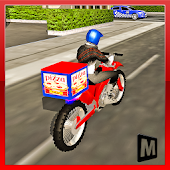 Moto Pizza Delivery Icon