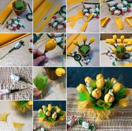 Поделки из конфет пошаговое