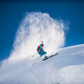 SGN by Andreas Anderson - Sports & Fitness Snow Sports ( skiing, blue sky, freeride, snow, action, skis )