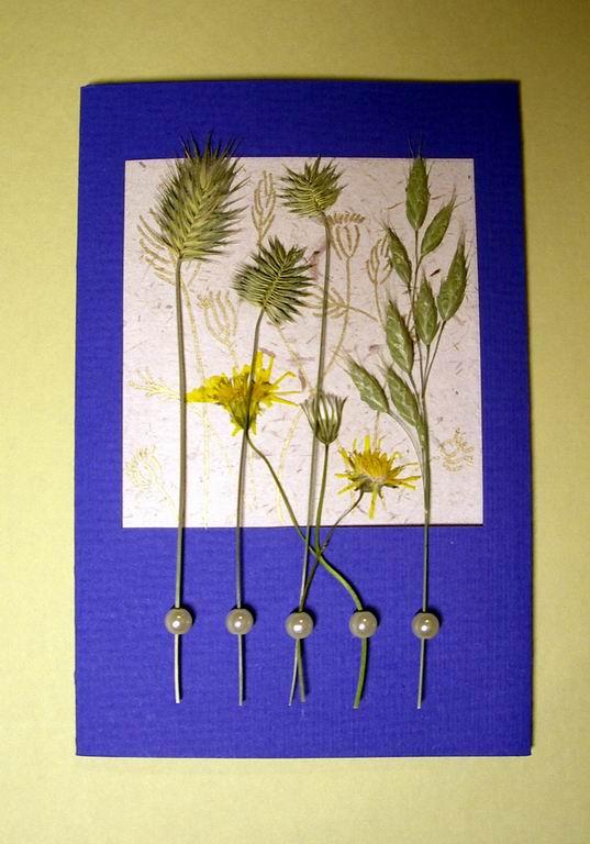 Открытки из засушенных цветов 55