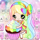 Colorful Cupcake Girl Keyboard Theme APK
