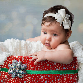 Christmas Surprise by Susan Van Wyk - Babies & Children Babies ( child, red, christmas, box )