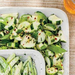 Cucumber Mint Salad Rice Vinegar Recipes