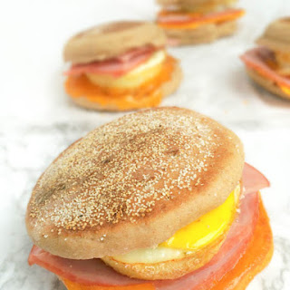 Egg, Ham and Cheese Breakfast Sandwiches {Freezer-Friendly}