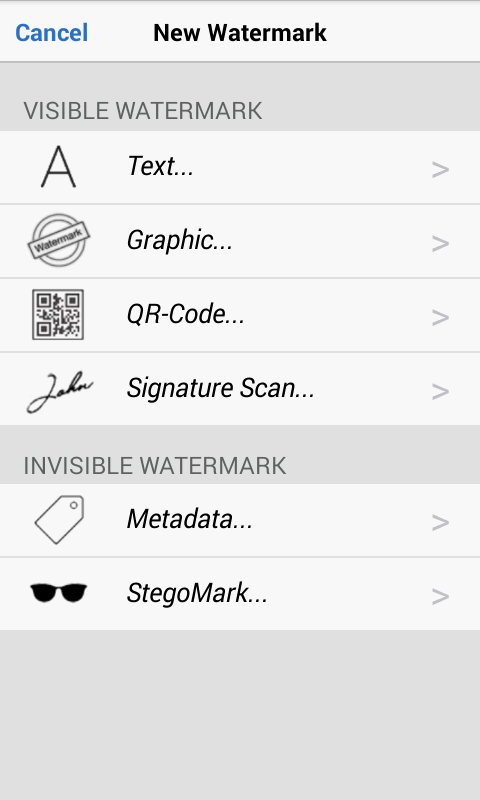 iWatermark+ Free Add Text Logo Screenshot 0