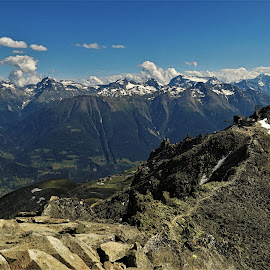 by Phil Bear - Landscapes Mountains & Hills ( mountains, alps, aletsch, switzerland, valley )