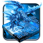 Blue Fire Dragon Keyboard Theme Icon
