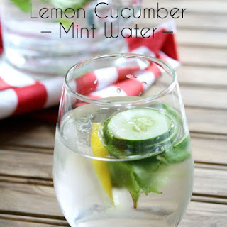 Lemon Cucumber Mint Water Recipes