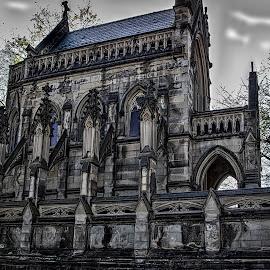 Dexter in Spring by Pat Lasley - City,  Street & Park  Cemeteries ( spring grove, mausoleum, cemetery, spring )