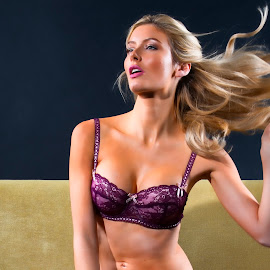 Becasue She's Worth It by Donald Ogg - Nudes & Boudoir Boudoir ( studio, model, lingerie, boudoir, hair )
