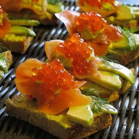 Red Caviar Avocado Appetizer