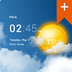 Transparent clock weather Pro APK Cracked Download