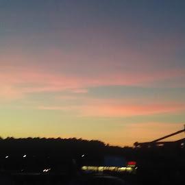by Caitlyn Guy - City,  Street & Park  Skylines ( sunset, city life )