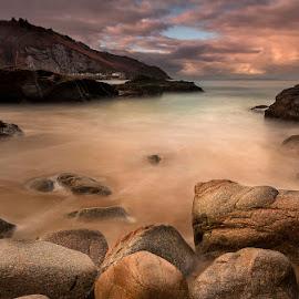 Greve de Lecq by Cliff Huby - Landscapes Waterscapes ( clouds, water, sea, seascape, coastline, coast )