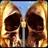 App Hell Devil Death Fire Skull Zipper lockscreen 2018 APK for Kindle
