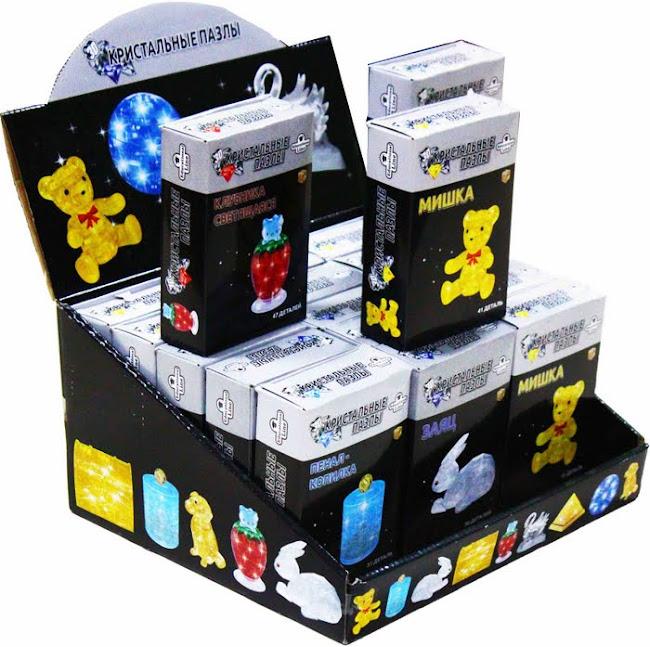 3D Crystal Puzzle Серия 2 Утенок, Шоу-Бокс 2/18 шт.