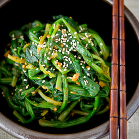 Korean Spinach, the rustic version