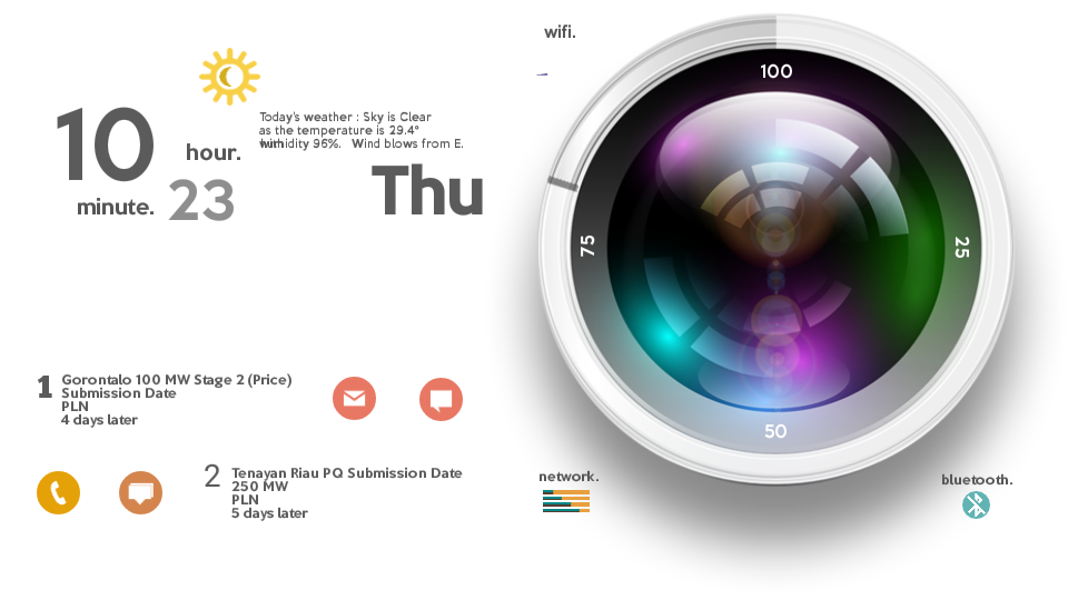 Lens Theme for Total Launcher Screenshot 2