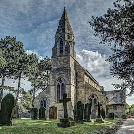 Village Church. by Andy Smith - Buildings & Architecture Places of Worship ( lincolnshire, ancient, hdr, church, historical )