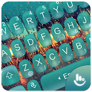 Water Droplets Keyboard Theme New App on Andriod - Use on PC