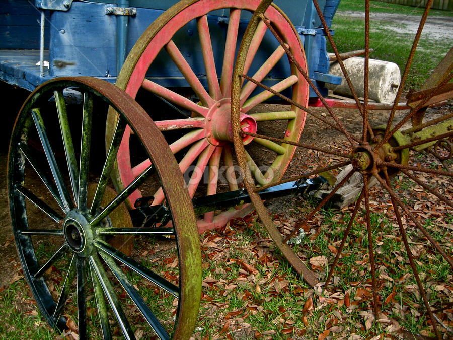 Spare Parts by Ashley Humphrey - Artistic Objects Other Objects ( pattern, wheel, texture, wagon, spokes )