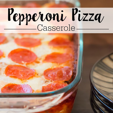 Pepperoni Pizza Casserole Recipe - Pizza and Pasta Collide