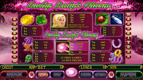 play online casino lucky lady charm deluxe