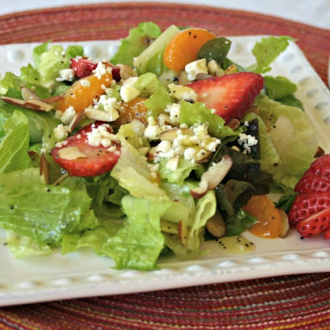 Mandarin Strawberry Salad with Poppy Seed Dressing