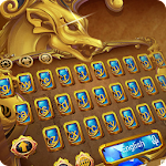 gold Dragon gem keyboard theme Icon