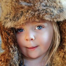 Poppy's Fur Hat by Cheryl Korotky - Babies & Children Child Portraits