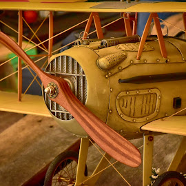 Biplane by Marco Bertamé - Artistic Objects Toys ( model, wood, biplane )