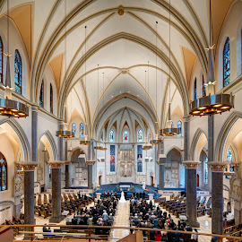 Church of Gesu by John Williams - Buildings & Architecture Places of Worship ( milwaukee, landmark, jesuit parish, wisconsin, church, french gothic, parish, pipe organ, gothic revival architecture, interior architecture, architectural detail, marquette university, catholic church, historic places )