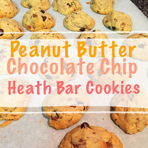 Peanut Butter Chocolate Chip Heath Bar Cookie