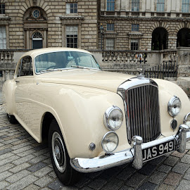 bentley by Kathleen Devai - Transportation Automobiles ( car, number plate, vintage, buildings )