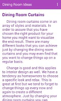 Screenshot of Dining Room Decorating Ideas