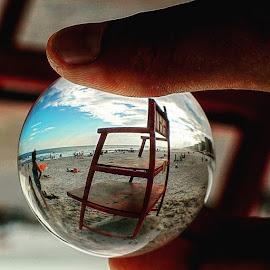 #longbeach #crystalball by Rakesh Shah - Artistic Objects Glass