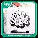 Hand Lettering Art Design Icon