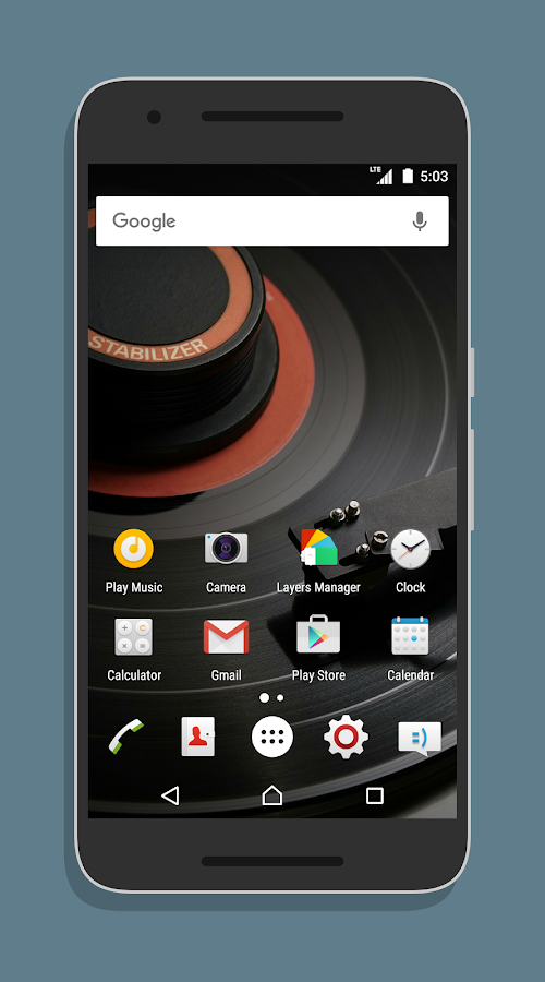 XperiaOS Layers Theme Screenshot