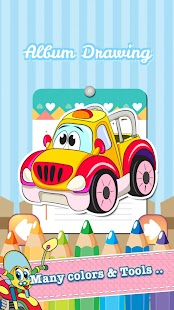 Car Drawing Coloring Book - screenshot