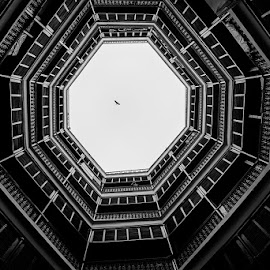 Glimpse of hope by Sudipto Goswami - Buildings & Architecture Homes ( blackandwhite, building, black and white, architecture, black )