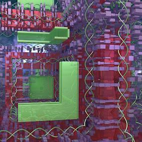 The Unexplained Compound by Ricky Jarnagin - Uncategorized All Uncategorized ( abstract, mandelbulb, dsynegrafix, 3d art, fractal )