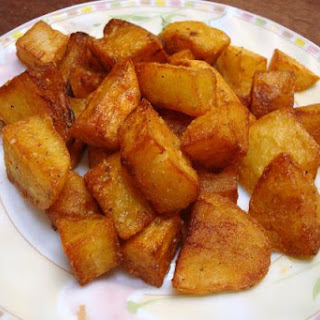 Deep-Fried Cubed Potatoes with Moroccan Spices - Recipe for Fried Potatoes